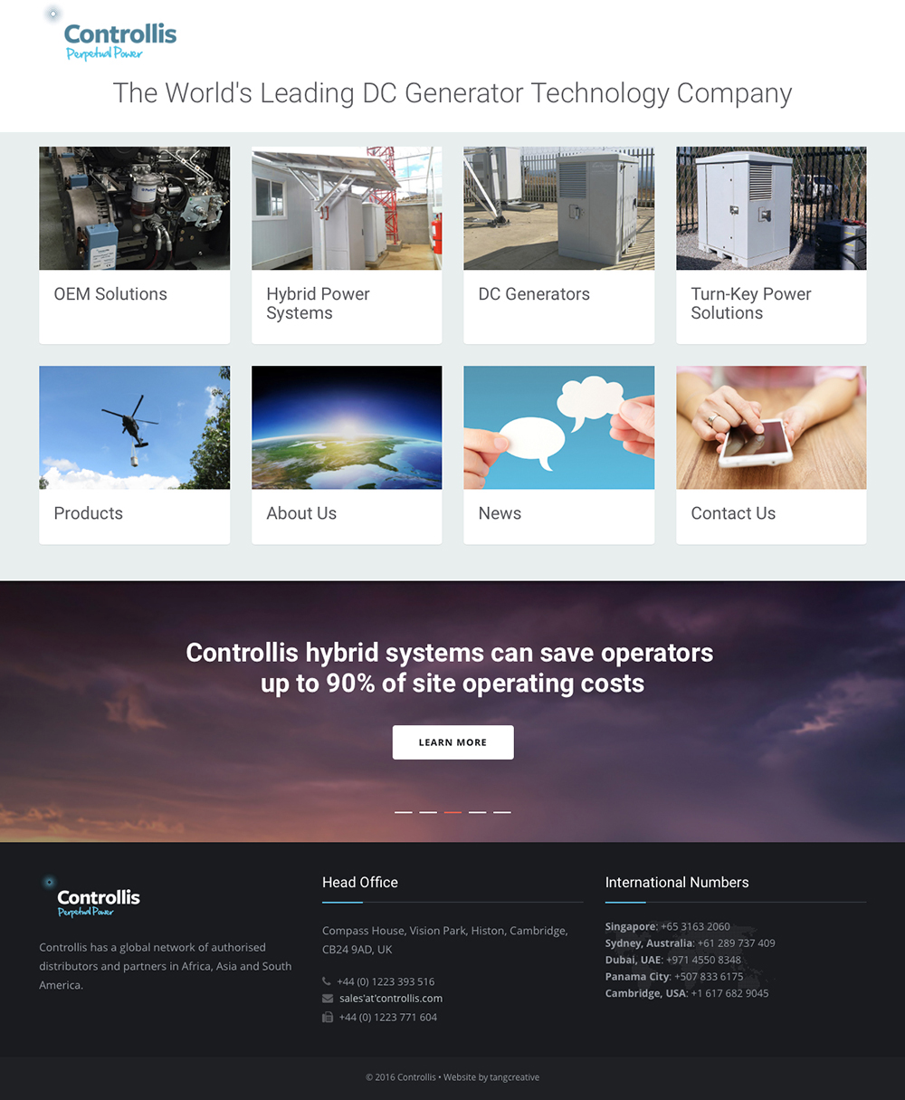 Web design build for Building design website